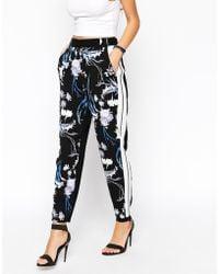 Asos Premium Peg Trousers In Winter Orchid Print multicolor - Lyst