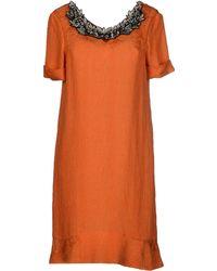 Jo No Fui Orange Short Dress - Lyst