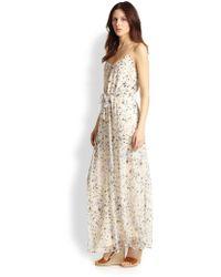 Joie Marucheka Floralprinted Silk Maxi Dress - Lyst