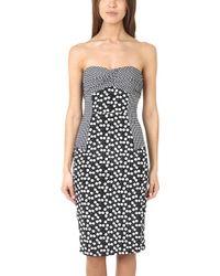Charlotte Ronson Cherry Dot Strapless Dress - Lyst