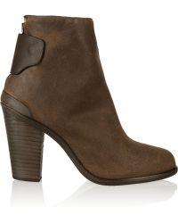 Rag & Bone Kerr Brushed-Leather Boots - Lyst