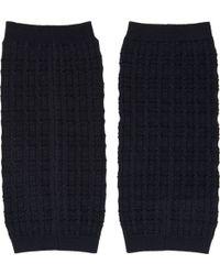 Lanvin Navy Knit Arm Warmers - Lyst