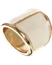 Mango - Contrast Chunky Ring - Lyst
