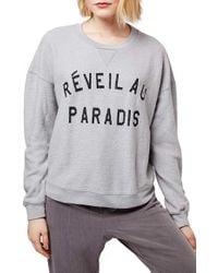 Topshop | 'paradise' Crewneck Sweatshirt | Lyst