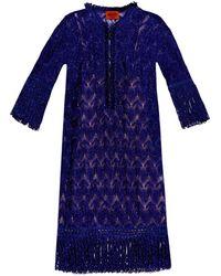 Missoni Fringed Sheer Crochet-Knit Dress - Lyst