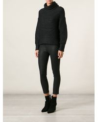 Helmut Lang Intarsia Turtleneck Sweater - Lyst