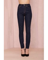 "Nasty Gal Denim €"" The Kink Skinny In Raw Rinse - Lyst"