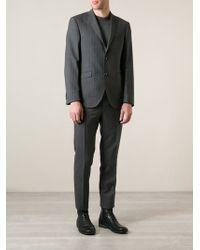 Etro Gray Pinstripe Suit - Lyst