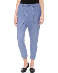 CLU - Cropped Sarong Trousers - Lyst