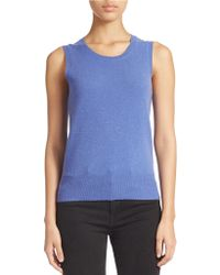 Lord + Taylor Cashmere Shell - Blue