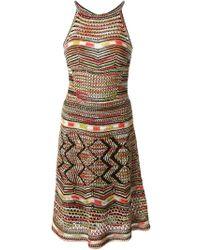 M Missoni Multicolored Cotton Crocheted Dress - Lyst