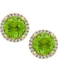 Kiki McDonough | Grace Green Peridot & Diamond Stud Earrings | Lyst