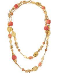 Jose & Maria Barrera Long 24K Gold-Plate Bead Necklace - Lyst