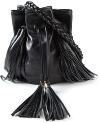Sara Battaglia Jasmine Leather Cross-Body Bag - Lyst