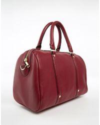 ASOS Stud Detail Bowler Bag - Red