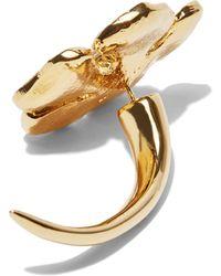 Vionnet - Women's Single Flower Stud Earring In Gold - Lyst