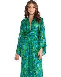 Issa Long Sleeve Printed Maxi Dress - Lyst