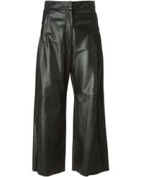 Mm6 By Maison Martin Margiela High Waist Cropped Trousers - Lyst