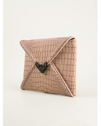 McQ by Alexander McQueen Textured Envelope Clutch - Lyst