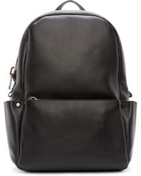 CALVIN KLEIN 205W39NYC - Black Leather Utility Backpack - Lyst