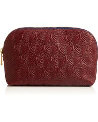Liberty - Oxblood Iphis Leather Cosmetic Case - Lyst