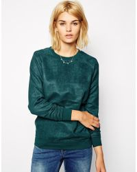 Pop Cph - Faux Suede Boyfriend Sweater - Lyst
