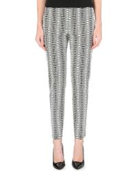 Hugo Boss Square-Print Tapered Trousers - For Women - Lyst