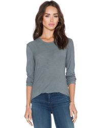 James Perse Long Sleeve Tee green - Lyst
