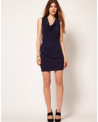 Improvd - Ponte Mini Dress with Satin Back Panel - Lyst