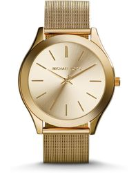 Michael Kors Slim Runway Gold-Tone Watch - Lyst