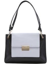 Jason Wu Black And Grey Leather 'Christy' Shoulder Bag black - Lyst