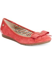 Anne Klein Red Alary Flats - Lyst