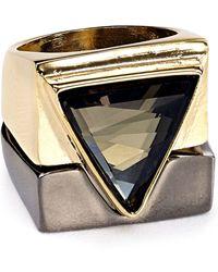 ABS By Allen Schwartz Triangle Rings, Set Of 2 - Metallic