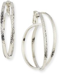 Jose & Maria Barrera Crisscross Clip-On Hoop Earrings - Lyst