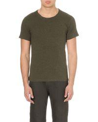 Diesel T-chirpo Cotton-jersey T-shirt Green - Lyst