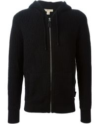Burberry Knitted Hoodie - Lyst