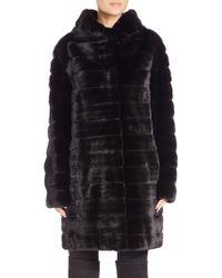 The Fur Salon | Hooded Mink Fur Coat | Lyst