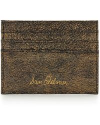 Sam Edelman - Metallic Leather Credit Card Case - Lyst