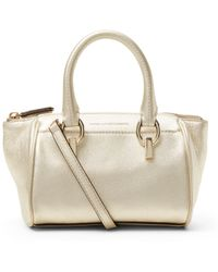 Diane von Furstenberg Sutra Metallic Leather Mini Duffle Bag - Lyst