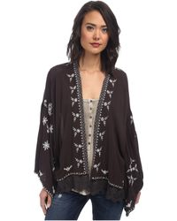 Free People Embroidered Kimono Jacket - Lyst