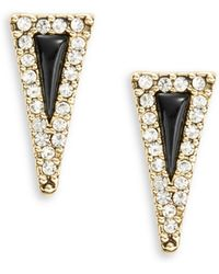 House of Harlow 1960 - Acute Stud Earrings - Black/clear - Lyst