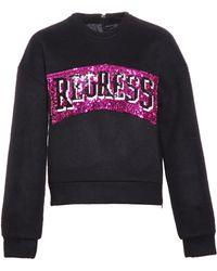 Filles A Papa Sequin Regress Sweatshirt - Black