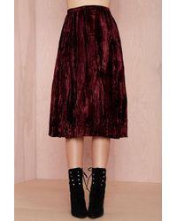 Nasty Gal Vintage Saint Laurent Stevie Velvet Wrap Skirt - Lyst