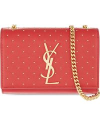 Saint Laurent Studded Leather Clutch Bag - For Women - Lyst