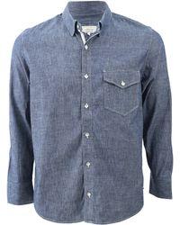 Rag & Bone Selvage Chambray Shirt blue - Lyst
