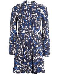 Isabel Marant Printed Silk Mini Dress - Lyst