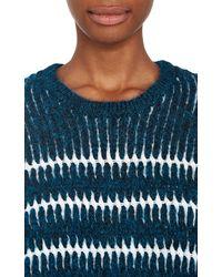 Alexander Wang Metallic Woven Pullover Sweater - Lyst