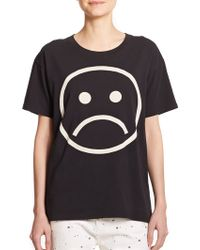 Marc By Marc Jacobs Cotton Frown Graphic Tee black - Lyst