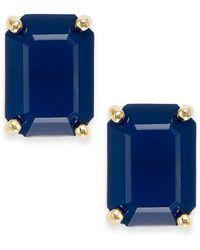 Kate Spade Crystal Emerald-Cut Stud Earrings - Lyst
