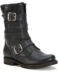 Frye - Veronica Tanker Mid Shaft Boots - Lyst